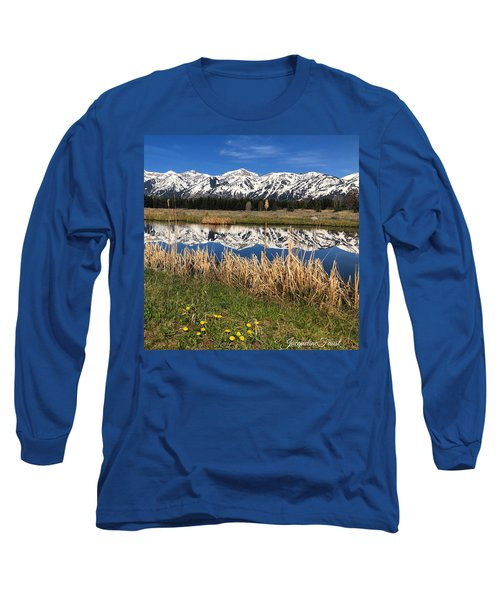 Long Sleeve T-Shirt featuring the photograph Mountain Reflection by Jacqueline Faust