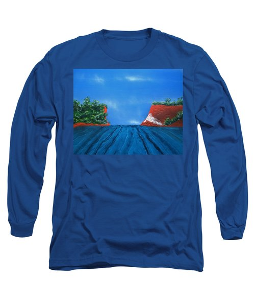 Mouth Of The Hay River Long Sleeve T-Shirt