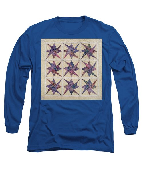 Nine Stars Dipping Their Toes In The Sea Sending Ripples To The Shore Long Sleeve T-Shirt