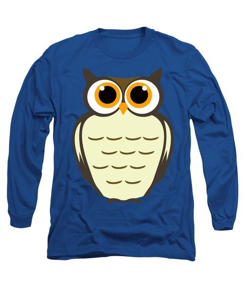 Owl Illustration Long Sleeve T-Shirt