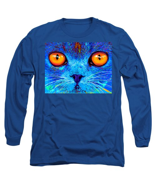 pOpCat Boe - Big Orange Eyes Long Sleeve T-Shirt