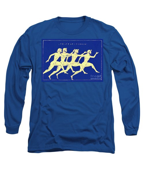 Race, Illustration From History Of Greece By Victor Duruy, 1890 Long Sleeve T-Shirt