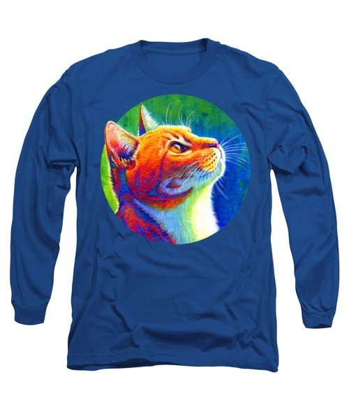 Rainbow Cat Portrait Long Sleeve T-Shirt