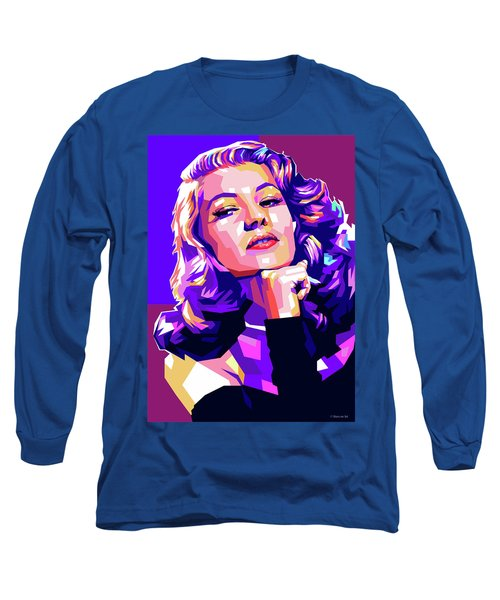 Rita Hayworth Illustration Long Sleeve T-Shirt