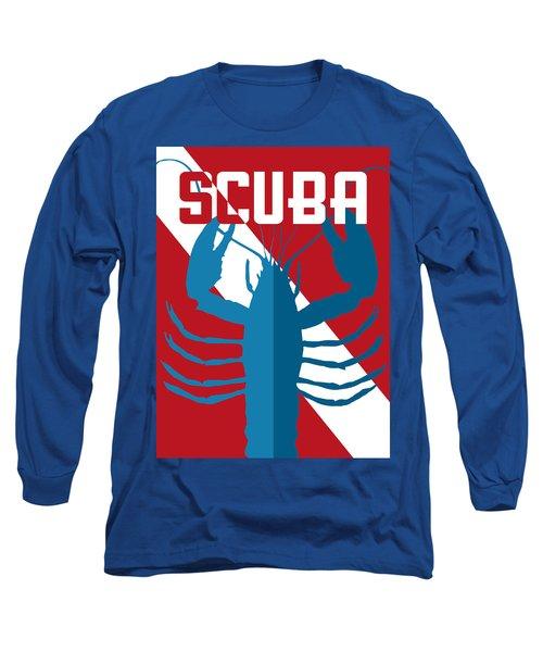 Scuba Lobster Long Sleeve T-Shirt