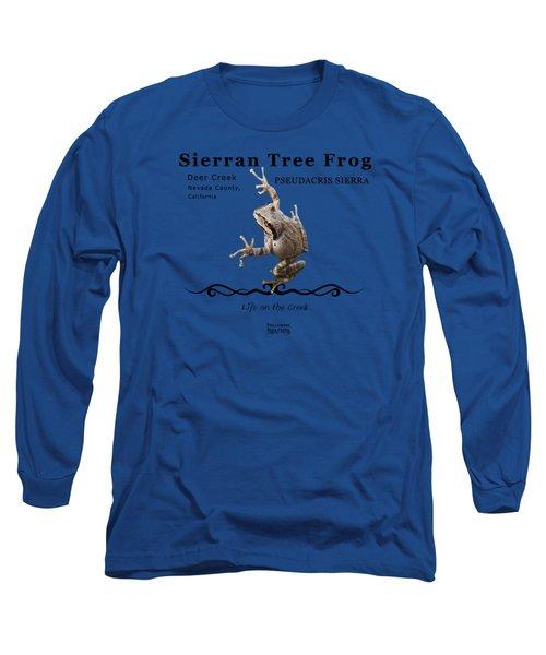 Sierran Tree Frog Pseudacris Sierra Long Sleeve T-Shirt