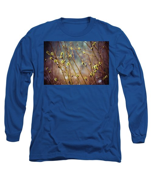Snowfall On Budding Willows Long Sleeve T-Shirt