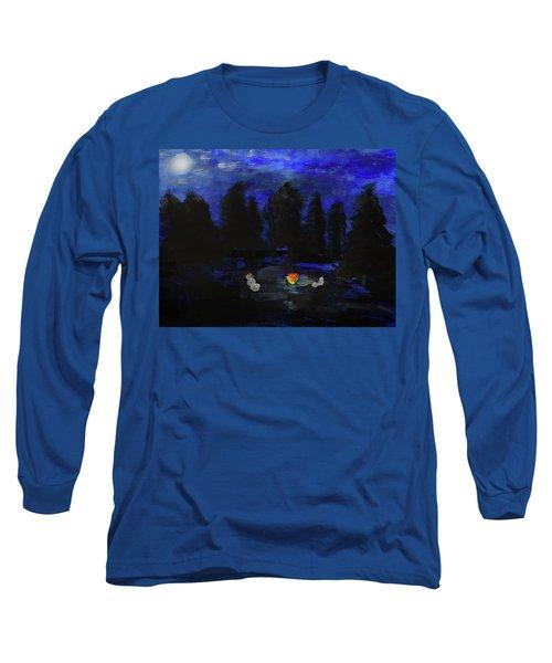 Snowmen Enjoy The Campfire  Long Sleeve T-Shirt