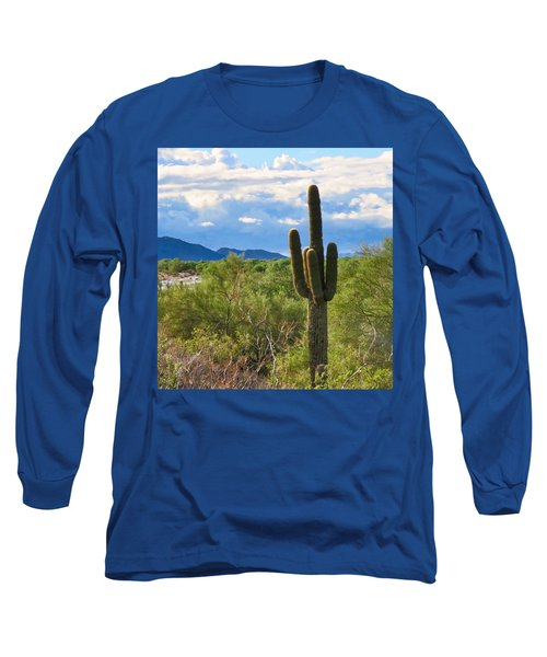 Sonoran Desert Landscape Post-monsoon Long Sleeve T-Shirt