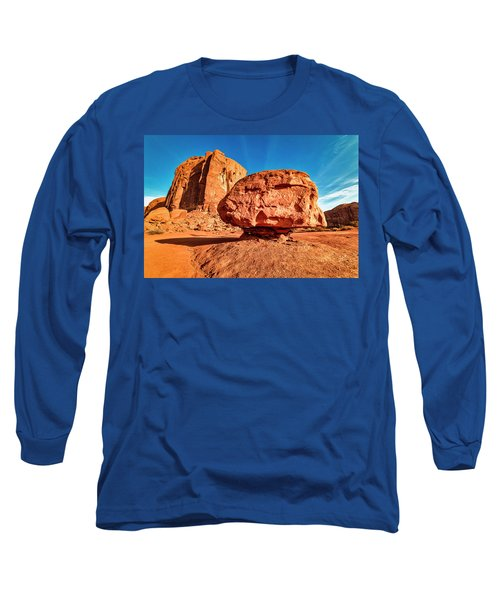 Long Sleeve T-Shirt featuring the photograph Spearhead Mesa's Balancing Rock by Andy Crawford