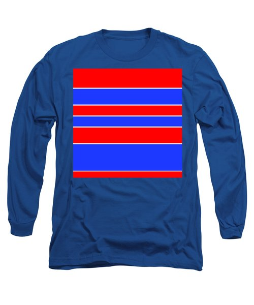 Stacked - Red, White And Blue Long Sleeve T-Shirt