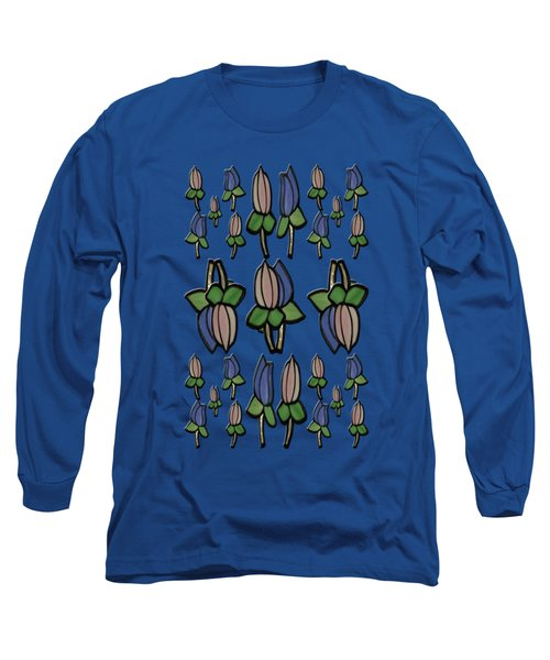 Long Sleeve T-Shirt featuring the photograph Stain Flowers by Rockin Docks