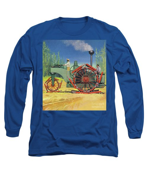 Steam Traction Engine Created To Work In The Sugar Plantations Of Cuba Long Sleeve T-Shirt