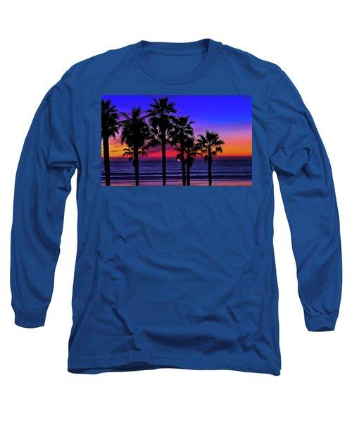 Sunset From The Ocean Park Inn Long Sleeve T-Shirt