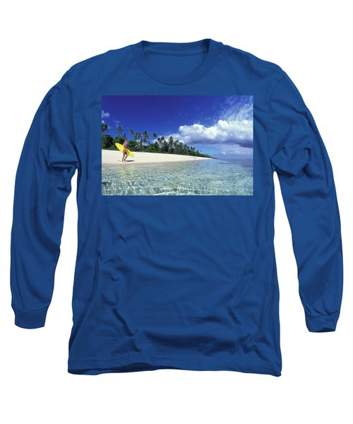 Surfer Girl In Tonga Long Sleeve T-Shirt