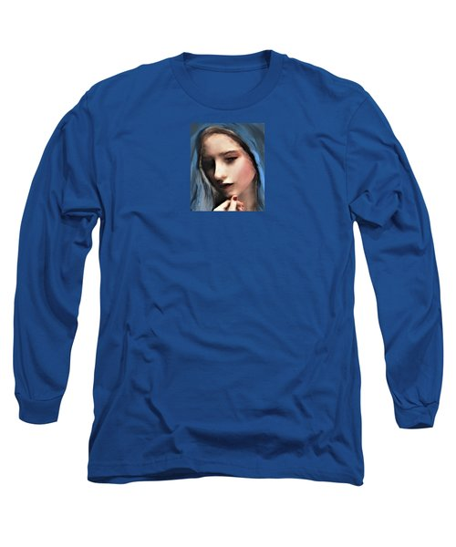 The Blue Scarf Long Sleeve T-Shirt