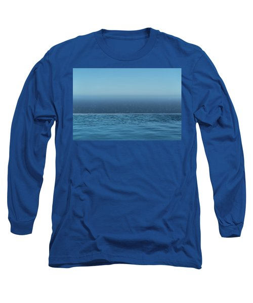 Three Layers Of Blue Long Sleeve T-Shirt
