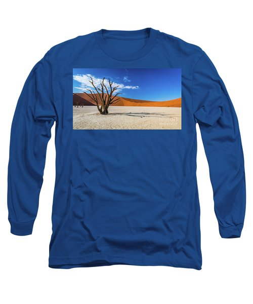 Tree And Shadow In Deadvlei, Namibia Long Sleeve T-Shirt