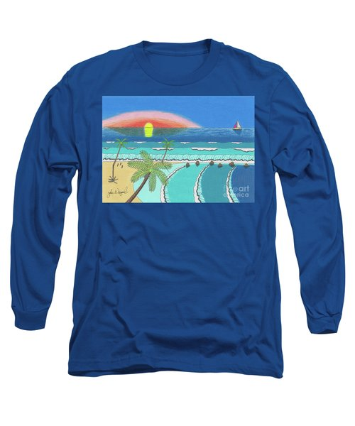 Tropical Sunrise Long Sleeve T-Shirt