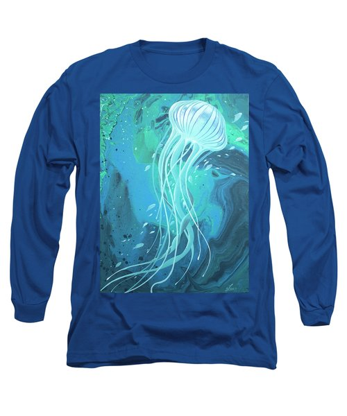 Long Sleeve T-Shirt featuring the painting White Jellyfish by William Love