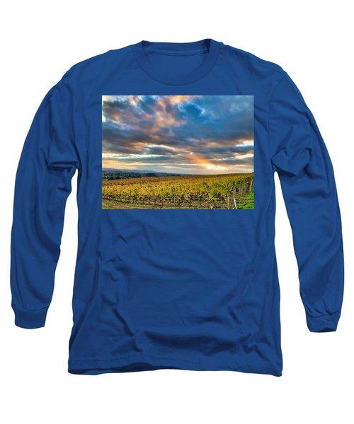 Willamette Valley In Fall Long Sleeve T-Shirt