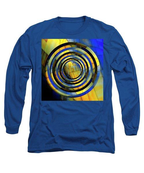 Yellow And Blue Metal Circles Long Sleeve T-Shirt