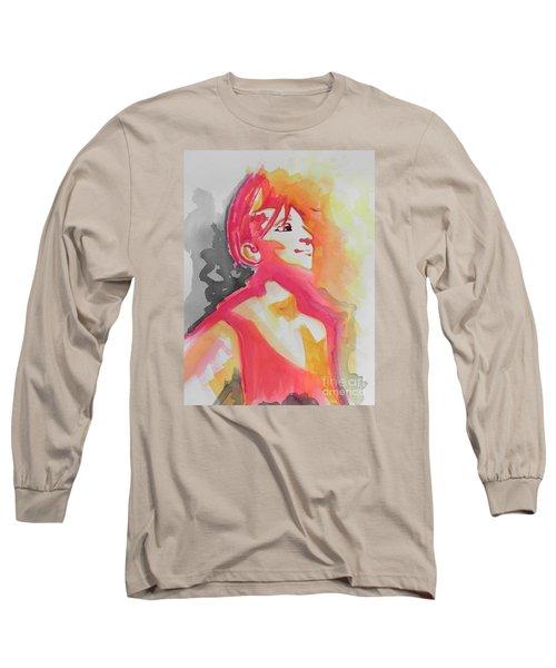 Barbra Streisand Long Sleeve T-Shirt by Chrisann Ellis