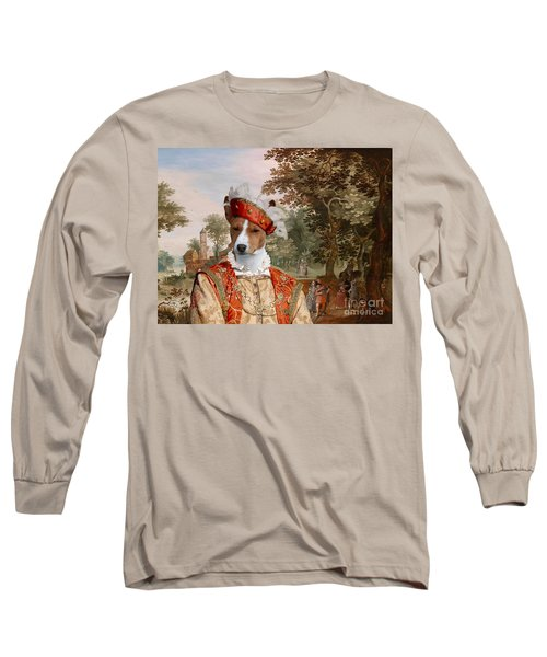 Basenji Art Canvas Print Long Sleeve T-Shirt