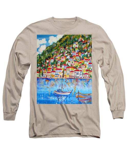 Boats Down South Italy Coast  Long Sleeve T-Shirt