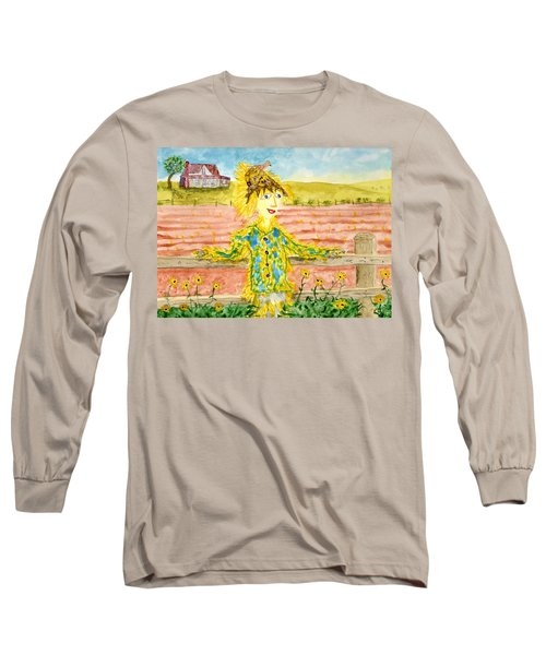Cheerful Scarecrow Long Sleeve T-Shirt