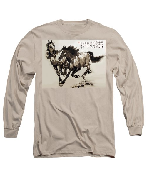 Long Sleeve T-Shirt featuring the photograph  Companionship by Yufeng Wang