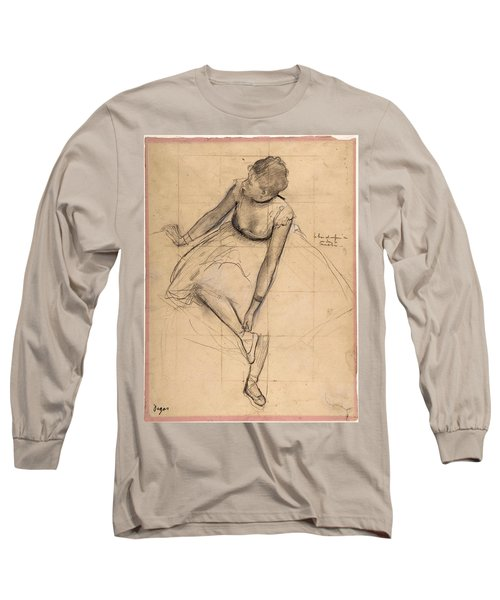 Dancer Adjusting Her Slipper Long Sleeve T-Shirt