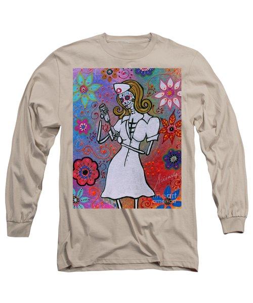 Dia De Los Muertos Nurse Long Sleeve T-Shirt