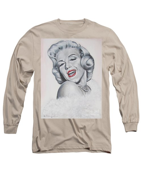 Marilyn Monroe Long Sleeve T-Shirt by Eric Dee