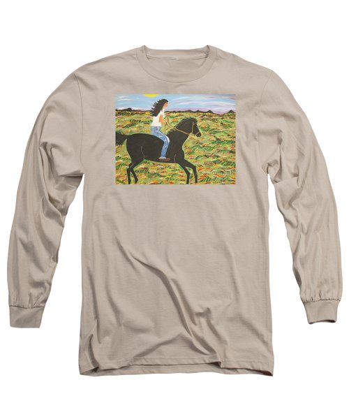 Morning Bareback Ride Long Sleeve T-Shirt
