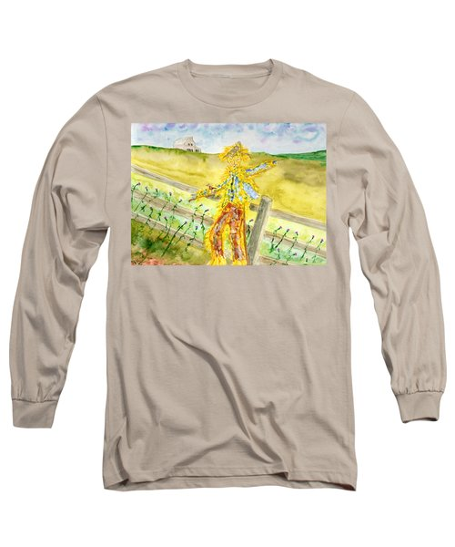 Napping Scarecrow Long Sleeve T-Shirt