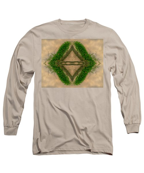 Long Sleeve T-Shirt featuring the mixed media  Orchard In The Sky by Ester  Rogers