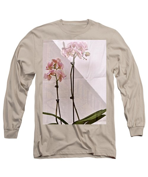 Long Sleeve T-Shirt featuring the photograph  Orchids In The Window by Ira Shander