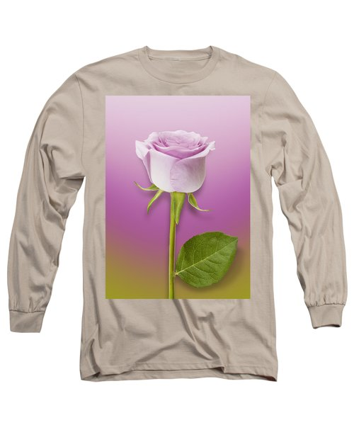 Single Lilac Rose Long Sleeve T-Shirt