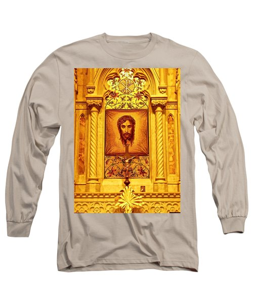 Long Sleeve T-Shirt featuring the photograph  St. Patrick Nyc  Altar by Joan Reese