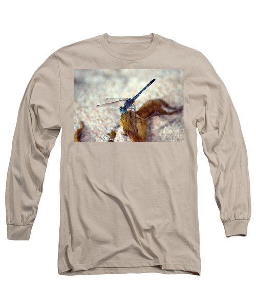 Blue Dragonfly Long Sleeve T-Shirt by Michelle Meenawong