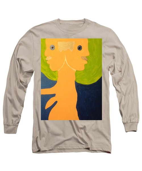 Long Sleeve T-Shirt featuring the painting 2faced by Erika Chamberlin