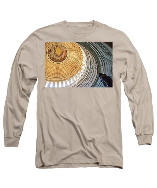 Long Sleeve T-Shirt featuring the photograph A Capitol Rotunda by Cora Wandel