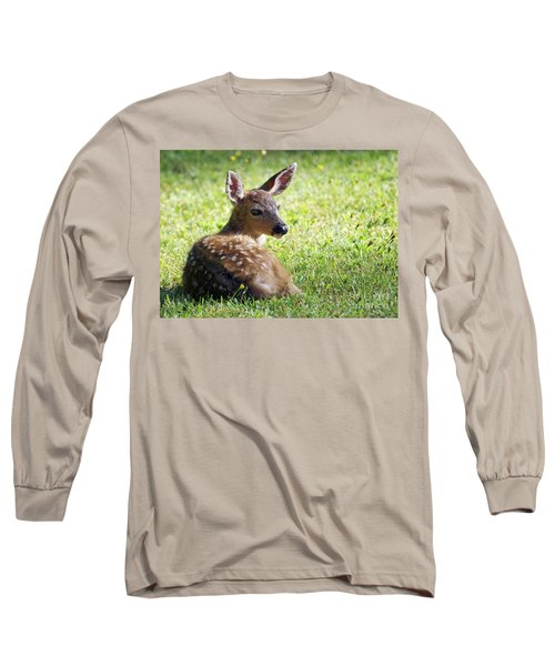 A Fawn On The Lawn Long Sleeve T-Shirt