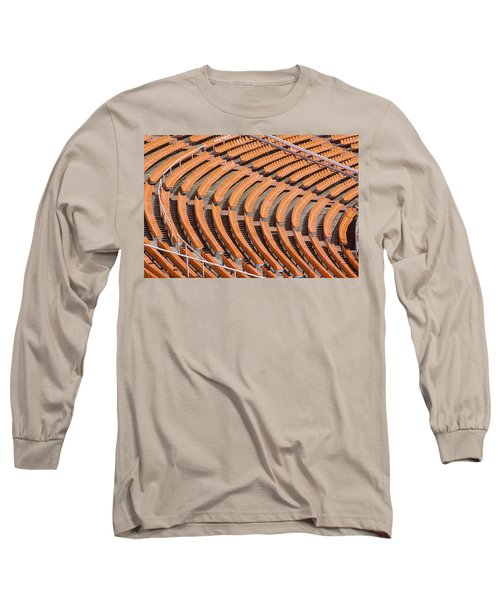 Abstract Pattern - Rows Of The Stadium's Seats Long Sleeve T-Shirt
