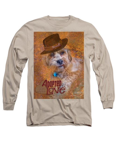 Long Sleeve T-Shirt featuring the digital art Adopted With Love by Kathy Tarochione
