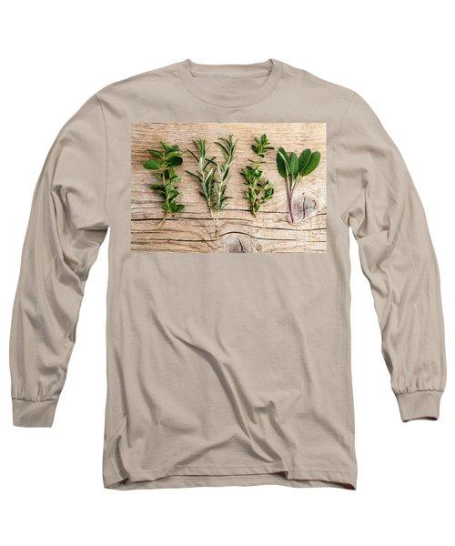 Assorted Fresh Herbs Long Sleeve T-Shirt
