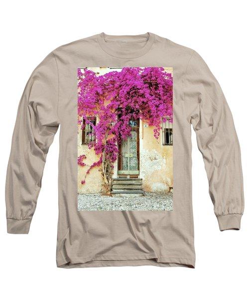 Bougainvillea Doorway Long Sleeve T-Shirt by Allen Beatty