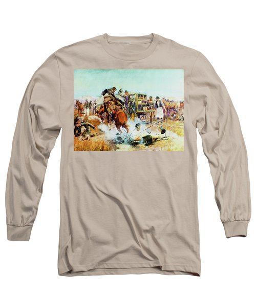 Bronc For Breakfast Long Sleeve T-Shirt