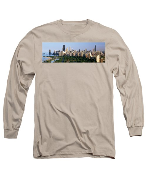 Buildings In A City, View Of Hancock Long Sleeve T-Shirt by Panoramic Images